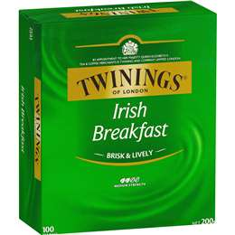Twinings Irish Breakfast Tea Bags 100pk 200g