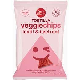 Keep It Cleaner Tortilla Veggie Chips Lentil & Beetroot 125g