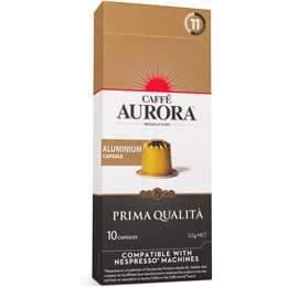 Caffe Aurora Prima Qualita Nespresso Compatible Coffee Capsules pack 10