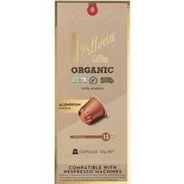 Vittoria Organic Nespresso Compatible Coffee Capsules pack 10