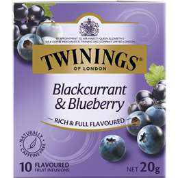 Twinings Blackcurrant & Blueberry Fruit Infusions 10 pack