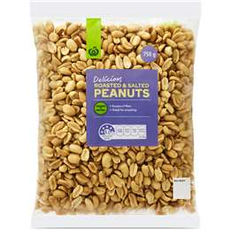 Woolworths Peanuts Roasted & Salted 750g pack