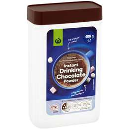 Woolworths Instant Chocolate Powdered Drink 400g