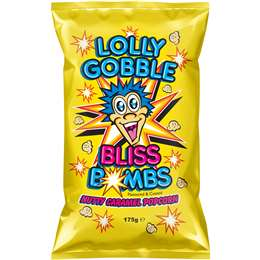 Lolly Gobble Popcorn Bag Caramel Nut 175g