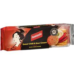 Fantastic Rice Crackers Sweet Chilli & Sour Cream 100g