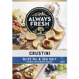 Always Fresh Crustini Crispbread Olive & Sea Salt 120g