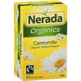 Nerada Organic Camomile Tea Bags 40 pack