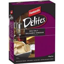 Fantastic Delites Snacks Sea Salt & Balsamic Vinegar 100g
