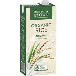 Australia's Own Organic Long Life Rice Milk 1l