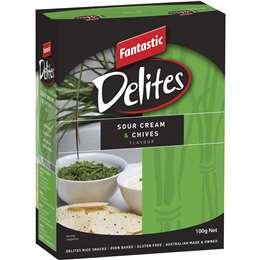 Fantastic Delites Snacks Sour Cream & Chives 100g