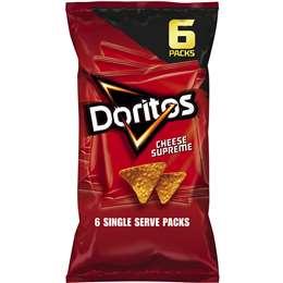 Doritos Corn Chips Cheese Supreme 6 pack