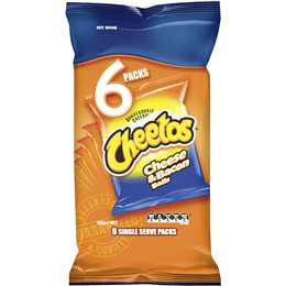Cheetos Cheese & Bacon Balls Multipack Snacks 6 pack