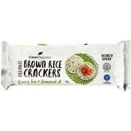 Ceres Organic Brown Rice Crackers Seaweed 115g