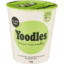 Yoodles Brown Rice Noodles Chicken 70g