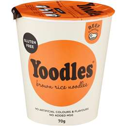 Yoodles Brown Rice Noodles Beef 70g