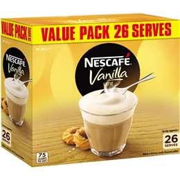 Nescafe Coffee Sachets Vanilla 26pk