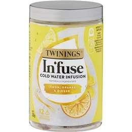 Twinings Infuse Lemon Orange & Ginger  12 pack