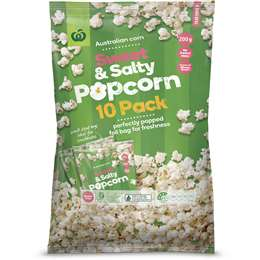 Woolworths Popcorn Sweet & Salty 10 pack