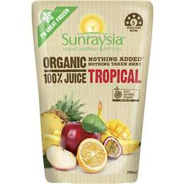 Sunraysia Organic Tropical 100% Juice 200ml