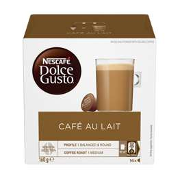 Nescafe Dolce Gusto Coffee Capsules Cafe Au Lait 16 pack
