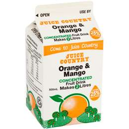 Juice Country Orange & Mango Concentrate 500ml