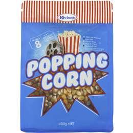Riviana Popping Corn Kernels 400g