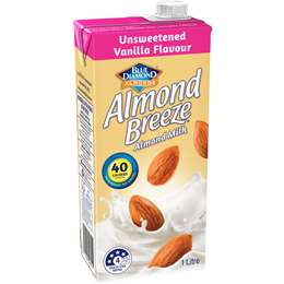 Blue Diamond Almond Breeze Unsweetened Vanilla Almond Milk 1l