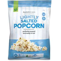 Woolworths Popcorn Lightly Salted 80g