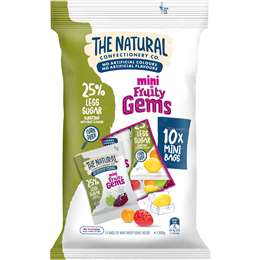 The Natural Confectionery Co. Fruit Gem Share Pack Reduced Sugar 300g