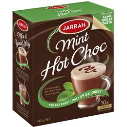 Jarrah Mint Drinking Chocolate Sachets 10pk 140g