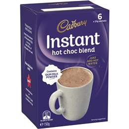 Cadbury Hot Chocolate Sachets  6 pack