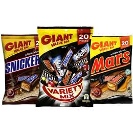 Mars, Snickers & Mixed Variety Sharepack Bundle
