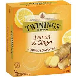 Twinings Tea Bags Lemon & Ginger 80 pack