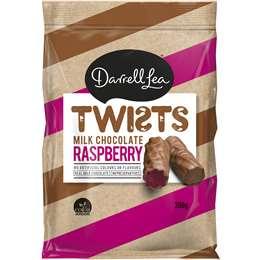 Darrell Lea Liqourice Twist Milk Chocolate Raspberry 200g