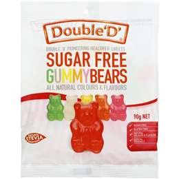 Double D Gummy Bears Sugar Free 90g bag