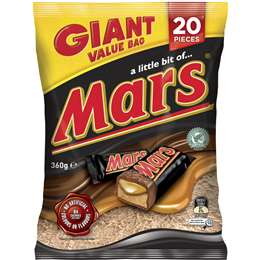 Mars Chocolate Large Party Share Bag 20 Piece 360g