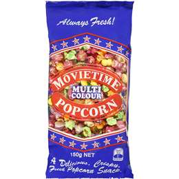 Movietime Popcorn Bag Multi Coloured 150g