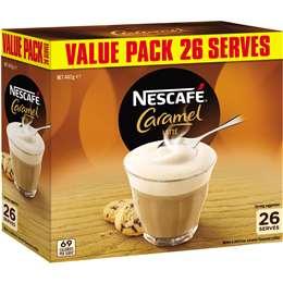 Nescafe Coffee Sachets Caramel Latte 26pk