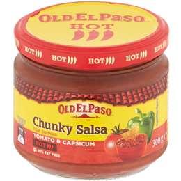Old El Paso Chunky Tomato Salsa Dip Hot 300g