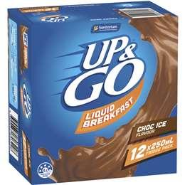 Sanitarium Up&go Liquid Breakfast Choc Ice 12 pack