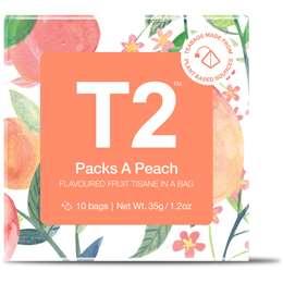 T2 Packs A Peach Tea Bags  10 pack