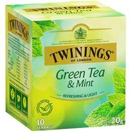 Twinings Green Tea & Mint Tea Bags 10 pack