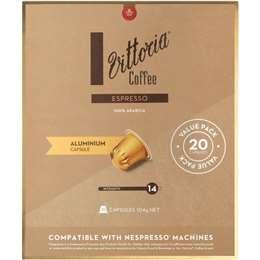 Vittoria Espresso Nespresso Compatible Coffee Capsules pack 20