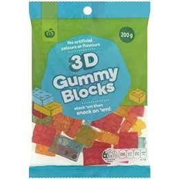 Woolworths 3d Gummy Blocks  200g