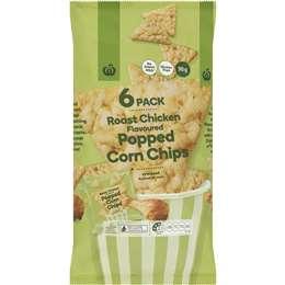 Woolworths Roast Chicken Flavoured Popcorn Chips 6 pack