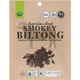 Woolworths Smokey Biltong  45g