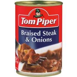 Tom Piper Beef Braised Steak & Onions 400g
