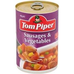 Tom Piper Sausages & Vegetables 400g