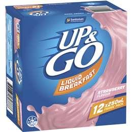 Sanitarium Up&go Liquid Breakfast Strawberry 12 pack