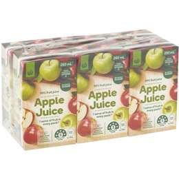 Woolworths Apple Juice 6x250ml